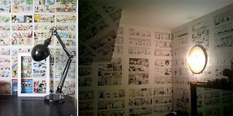 Em casa de Maria Estória em Quadrinhos na Parede