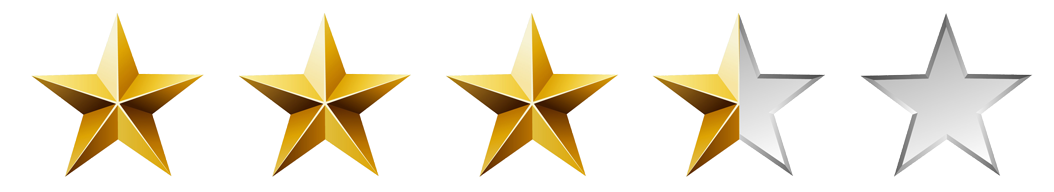 Image result for 3.5 star rating png