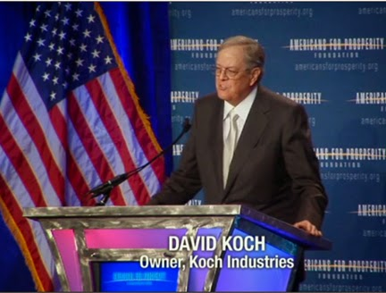 High-powered executives like David Koch overwhelmingly dominate the boards of  trustees at public TV stations.