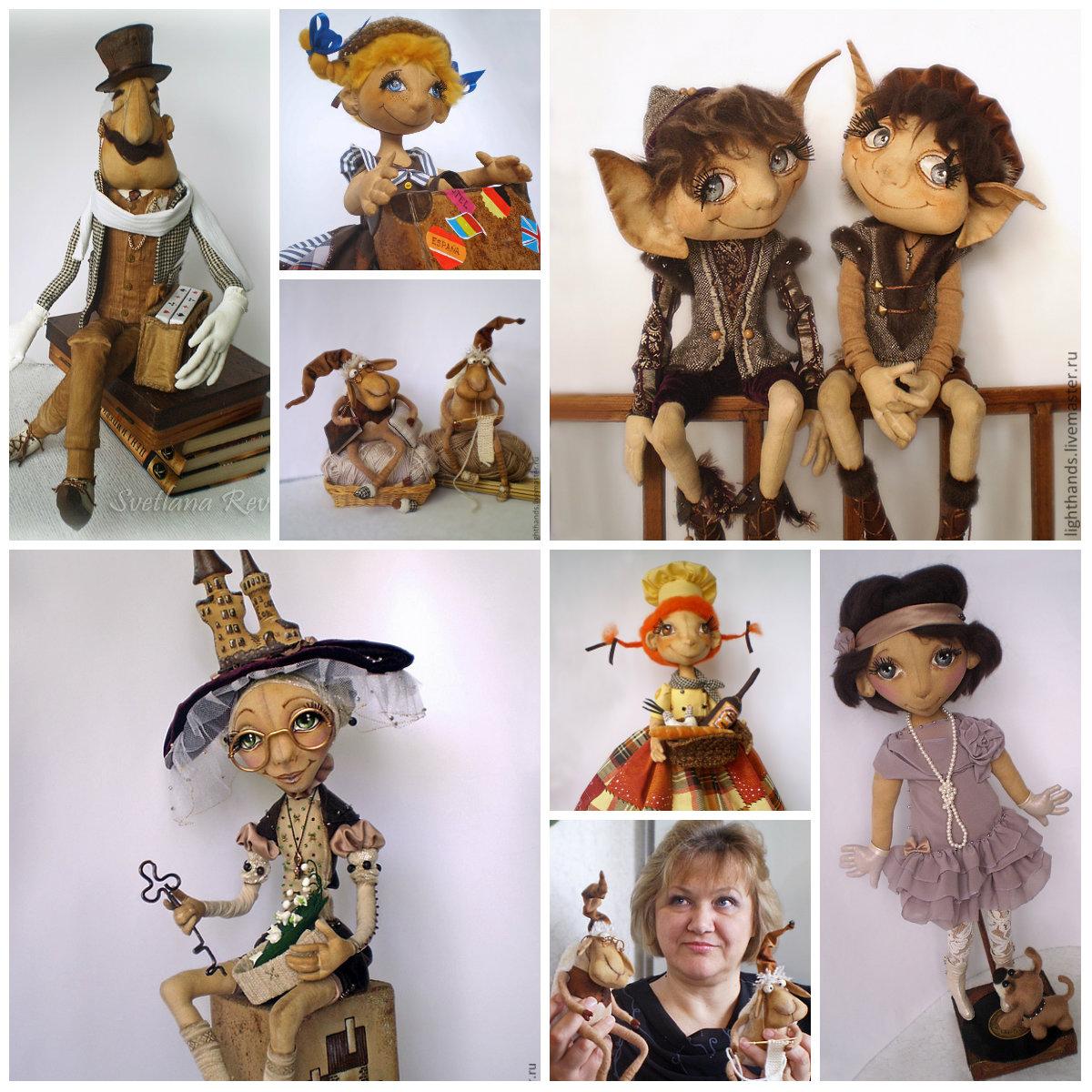 текстильные куклы Светланы Ревво