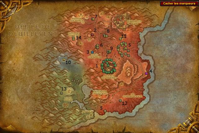 carte mobs rares les terres foudroyees