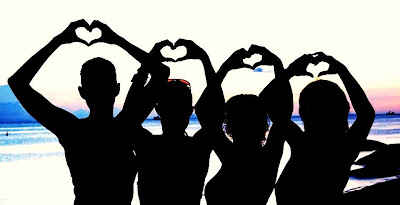 Sunset meditation women sending out the love!