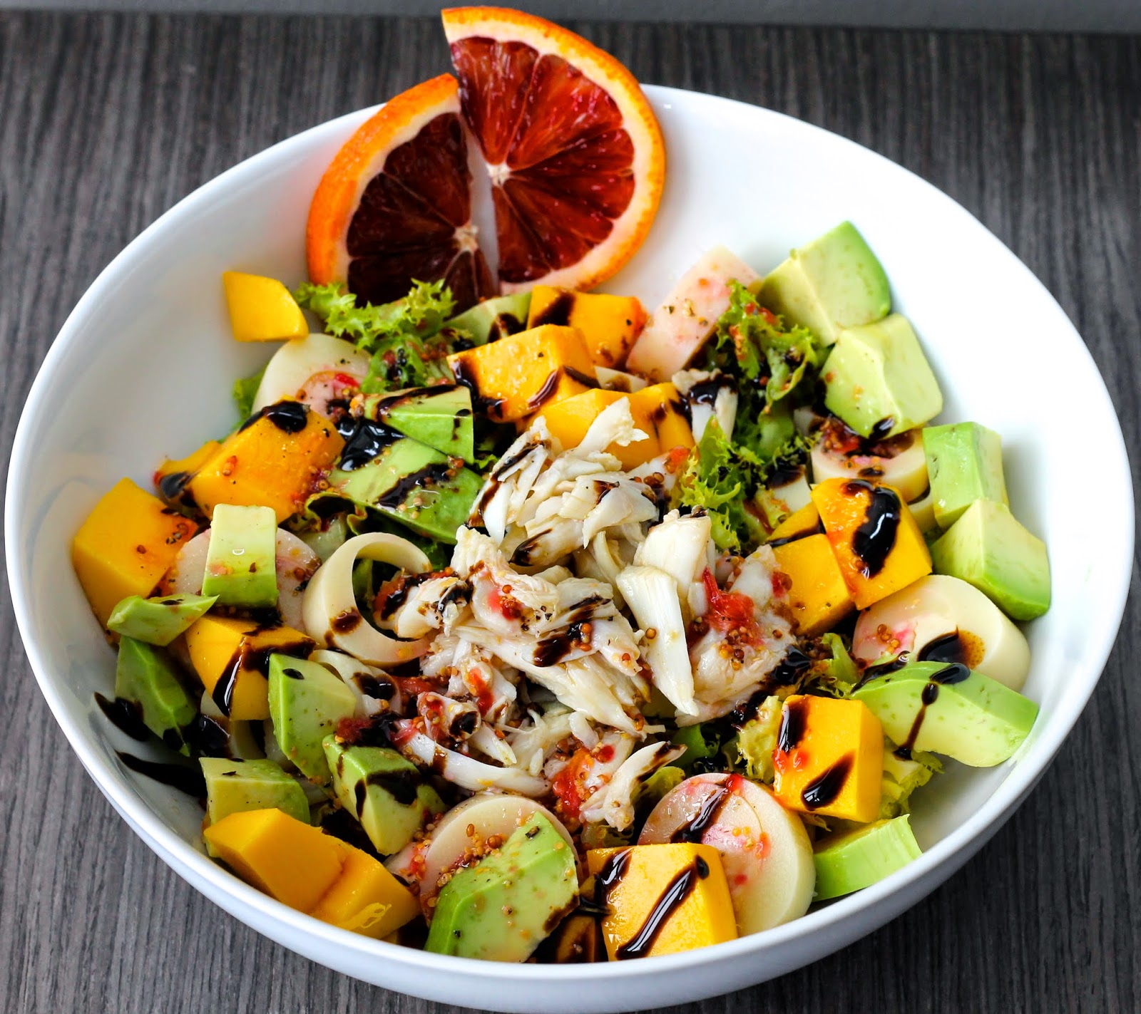 Saffron & Sun: Crab, Mango and Avocado Salad with Blood Orange ...