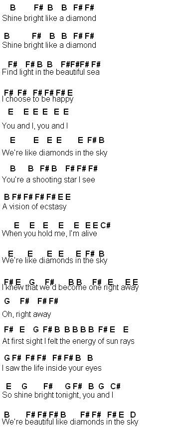 Flute Sheet Music Diamonds