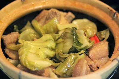 Braised Pork Meat with Pickled Vegetable - Thịt Heo Kho Dưa Chua