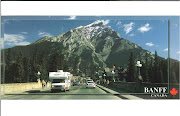 This is a postcard of the resort town of Banff Alberta Canada one of . (banff )