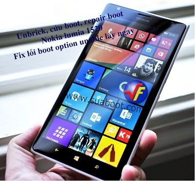 Sua nokia lumia 1520 loi unable to find a bootable option bang thay o cung zin moi nhu the nao