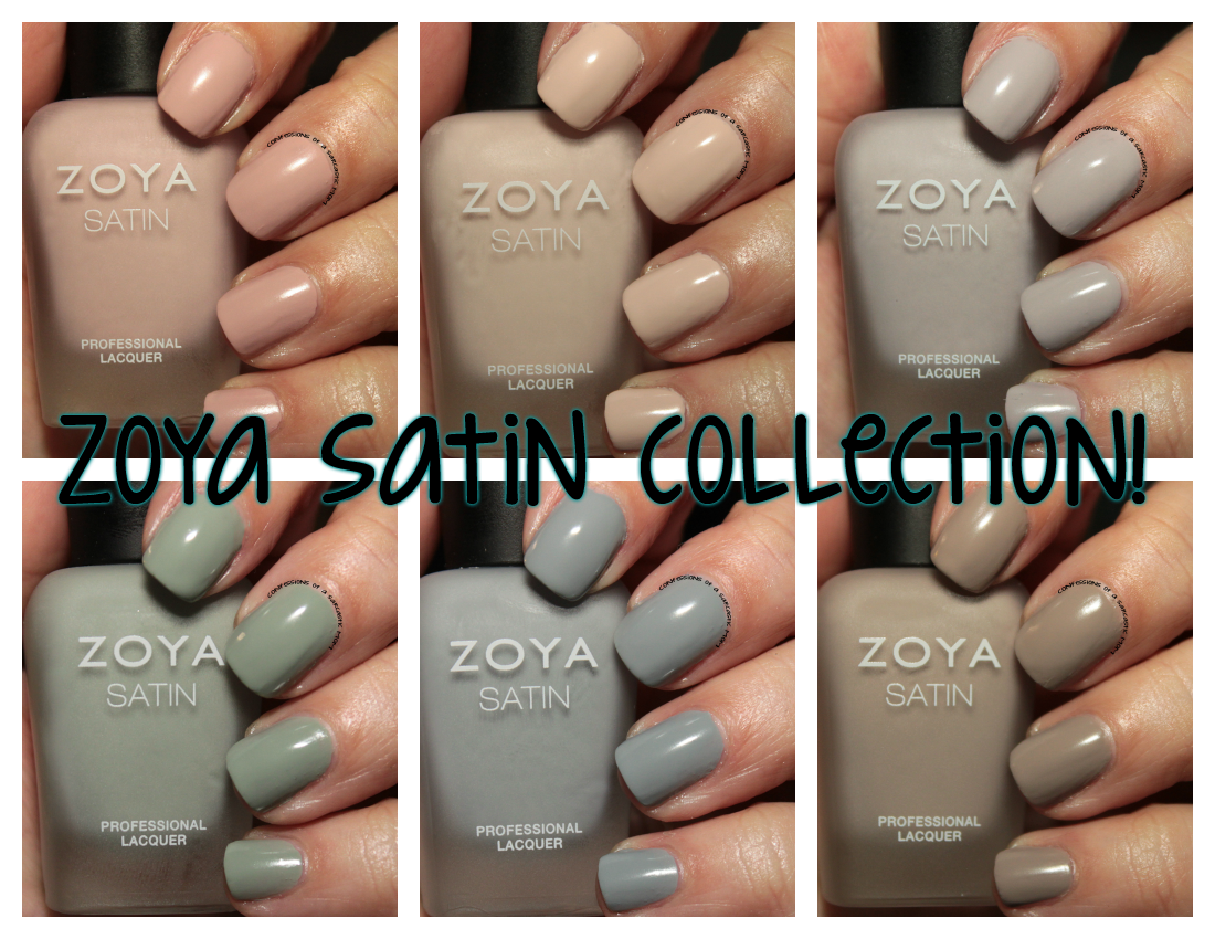 Zoya satin collection confessions of a sarcastic mom a unique new finish for zoya this finish a satin is a first for zoya and these are the first 6 polishes released to me the finish is sort of odd reheart Gallery