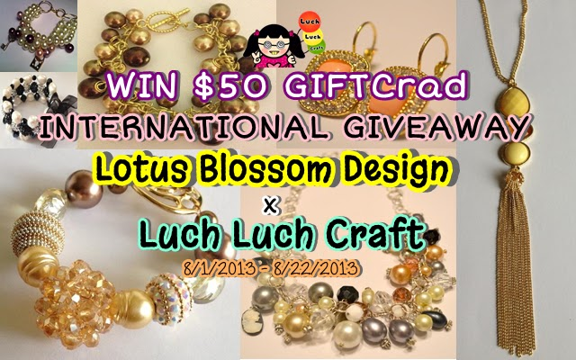 INTERNATIONAL GIVEAWAY: Lotus Blossom Design x Luch Luch Craft