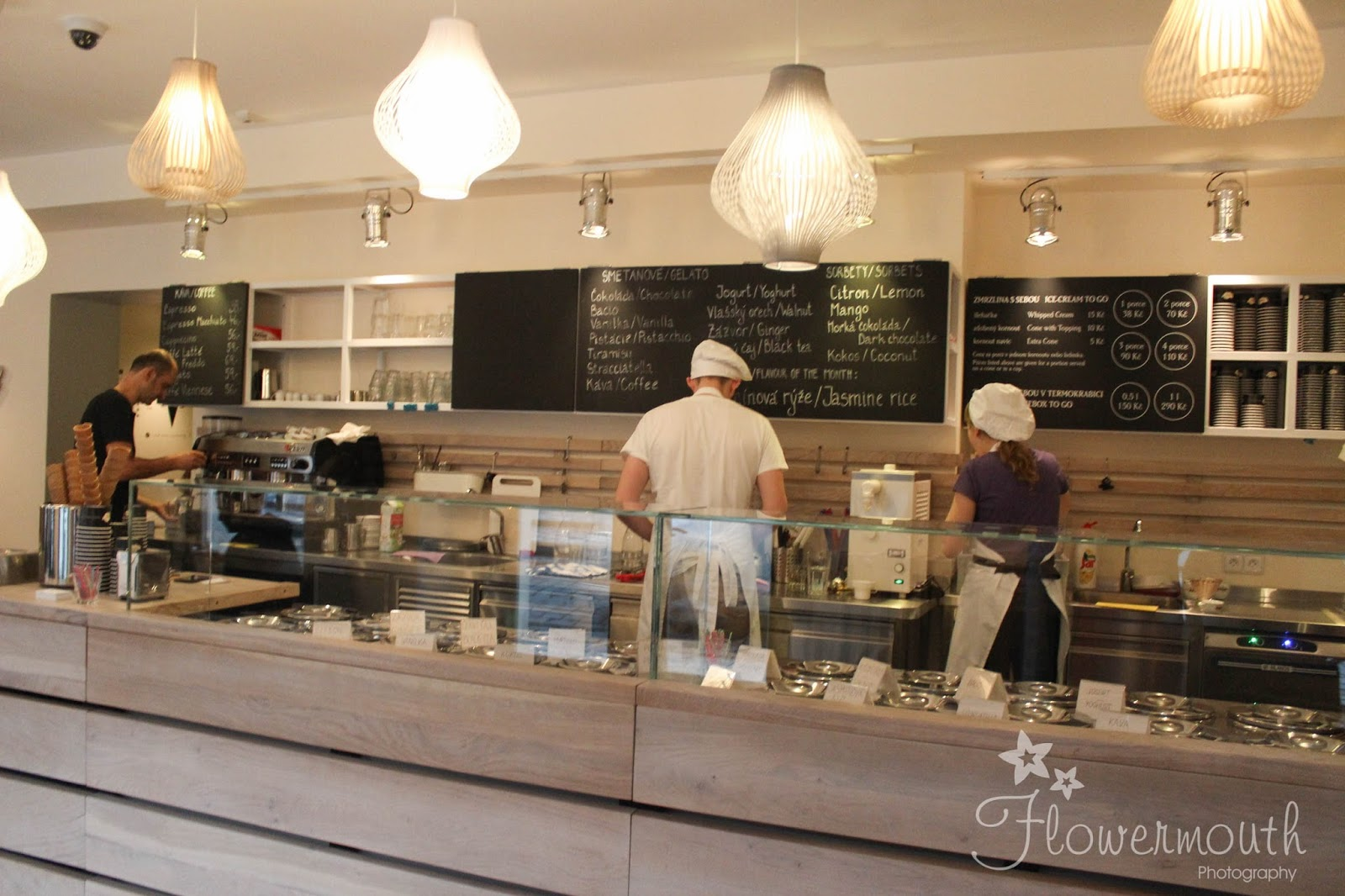 Angelato ice cream parlour in Prague