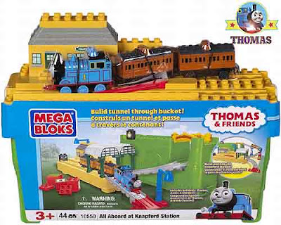 Assemble your creative track arrangement All Aboard at Knapford Station Toy Thomas Mega Bloks set
