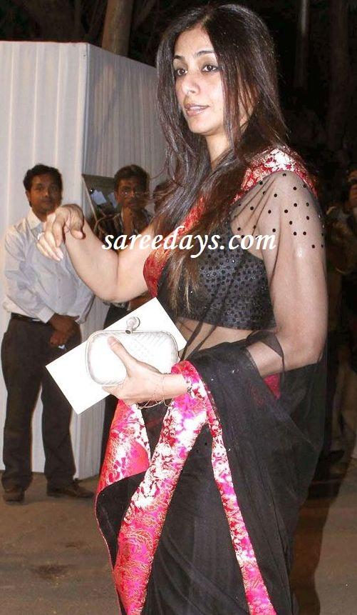 Latest saree designs tabu in black transparent saree at boman irani tabu in black transparent saree at boman irani son wedding reception altavistaventures Images