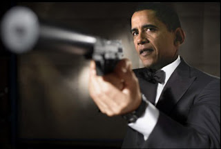 Barack Obama with a gun