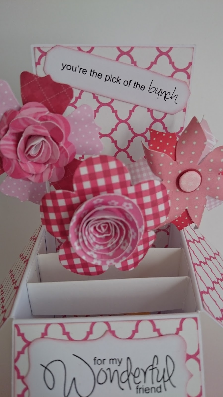 Cards by Gem: Pink Floral Pop-up Box Card