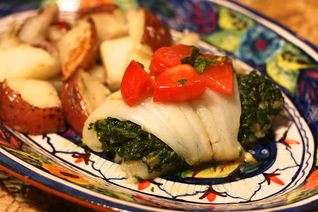 Sole & Spinach Roulades