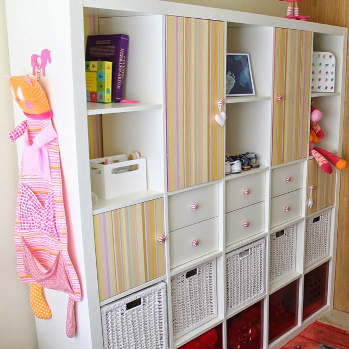 A closet on a bookcase IKEA Hackers – Pink Bookcase Ikea