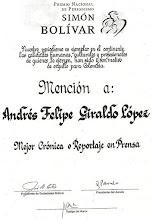 Premio de Periodismo Simón Bolívar