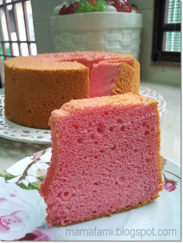 Strawberry Yogurt Chiffon Cake Recipe