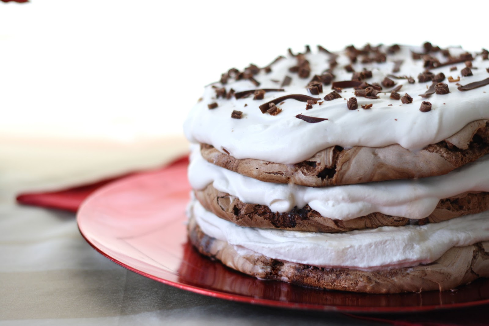 Chocolate Therapy: Chocolate Meringue Cake
