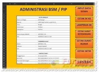Download Format Aplikasi Untuk Membuat Kelengkapan Administrasi BSM / PIP