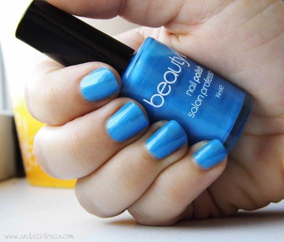 "Blue Nail Varnish Uk: NOTD: BeautyUK ""Blue Shimmer"""