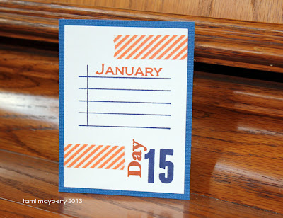 Journaling card for Project Life. Simple Numbers stamp set by Tami Mayberry for Gina K Designs