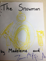 child's drawing, snowman