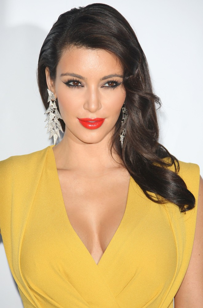 Kim Kardashian New Photo Gallery in Yellow Dress