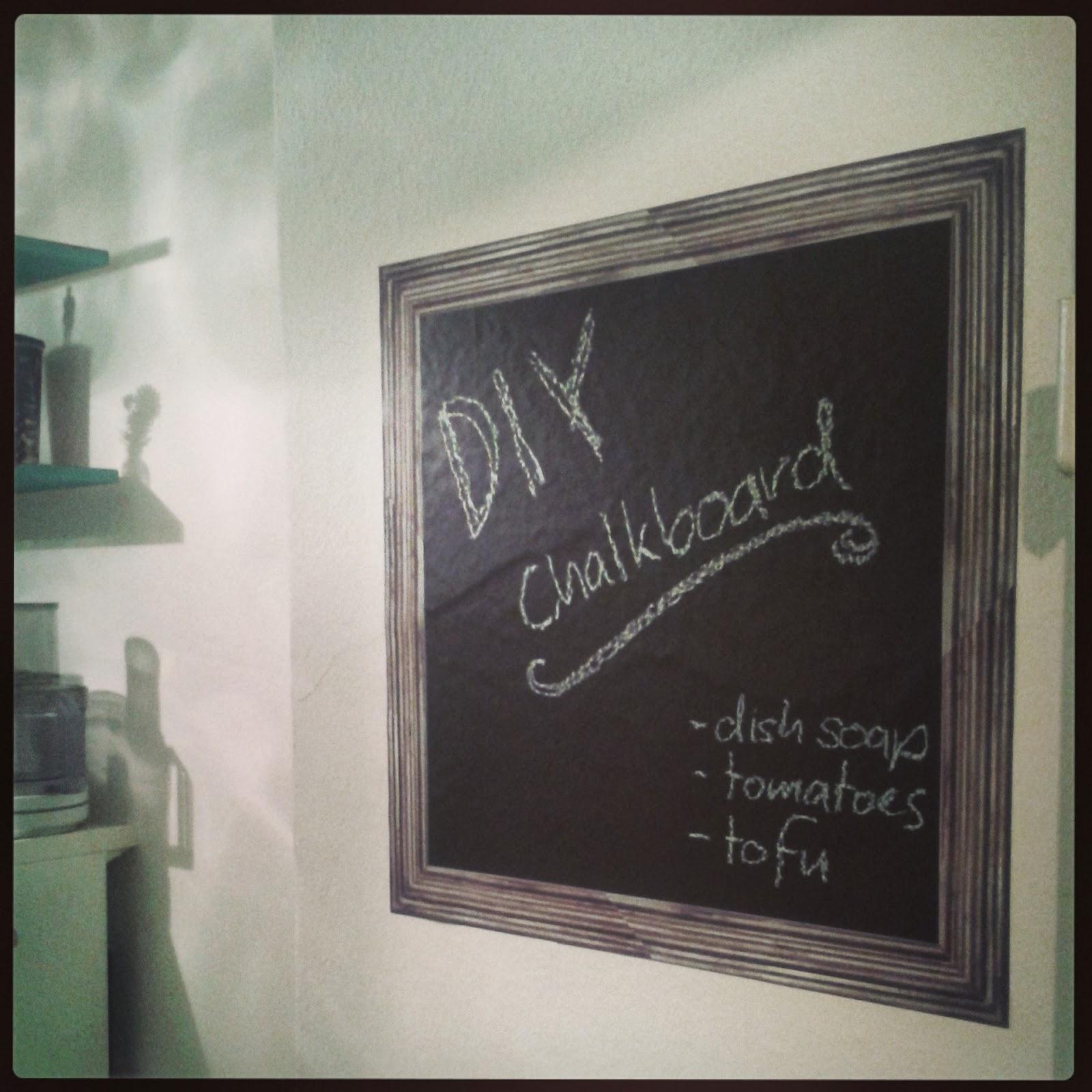 framed chalkboard diy - Diy Framed Chalkboard