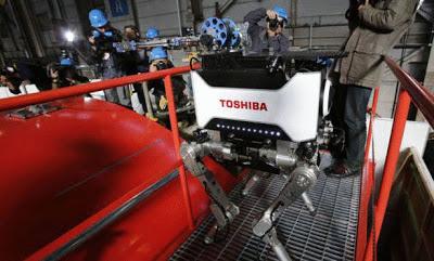 """شركة """"توشيبا"""" تكشف عن أحدث روبوت لتنظيف المعامل النووية"""