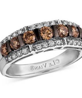 chocolate diamond ring - Chocolate Wedding Rings