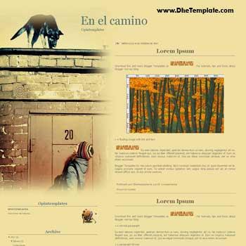 En El Camino blogger template. personal blogger template