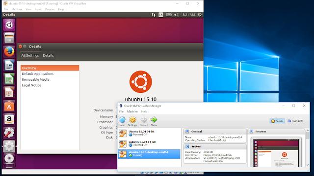 Install Ubuntu 15.10 On Windows 10/Virtualbox