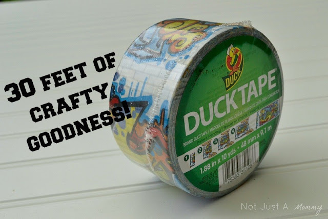 Duck Tape in graffiti pattern