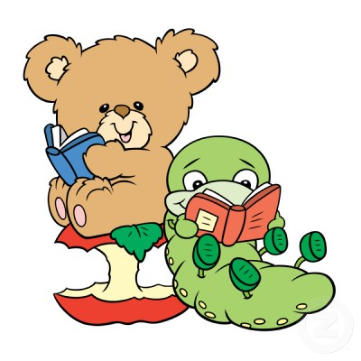 Bear Reading Book Clip Art