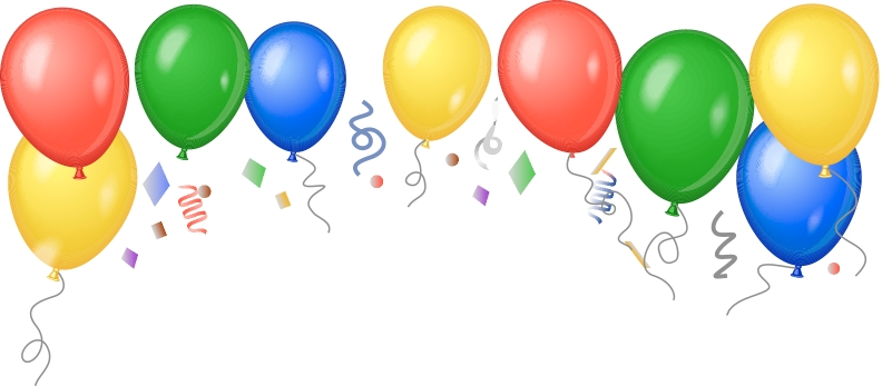 Image result for images of balloons and confetti