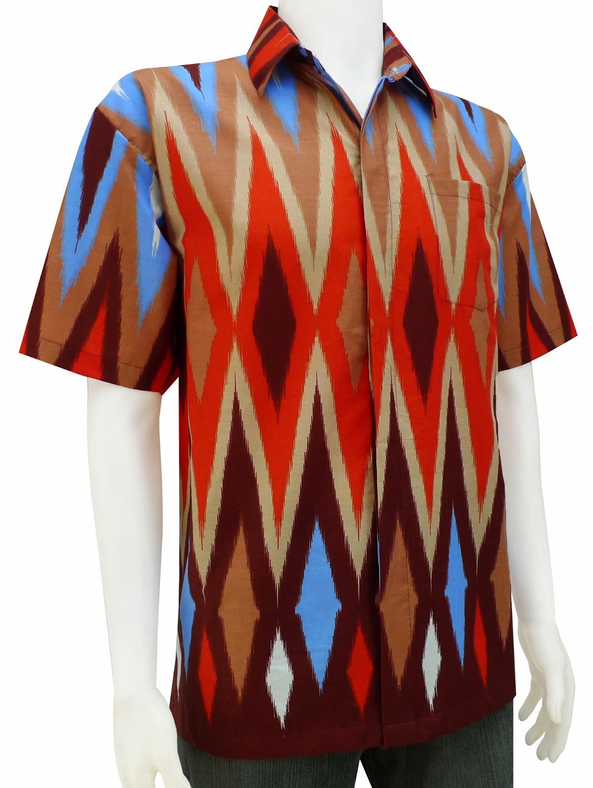 kemeja batik cowok ukuran M L XL