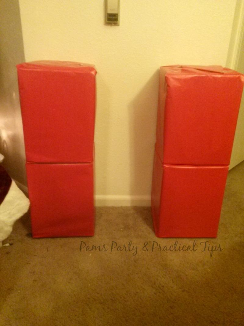 pams party u0026 practical tips diy cardboard fireplace mantel