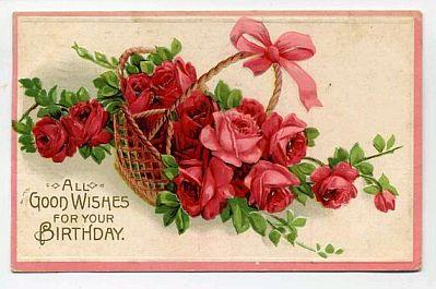 tarjetas de cumpleaos con rosas rojas parte