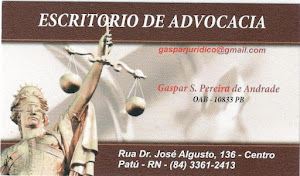 ESCRITRIO DE ADVOCACIA - GASPAR S. PEREIRA DE ANDRADE  - OAB - 10833 PB