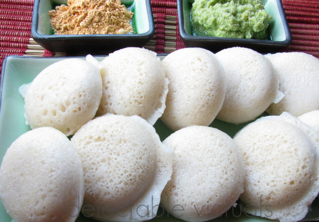easy rice idlee idli indian vegetarian