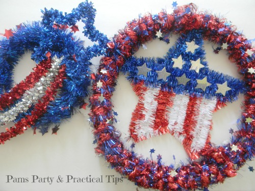 Quick and Easy Patriotic Wreaths, Dollar Store Crafts