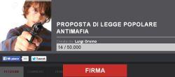 Sottoscrizione anti mafia