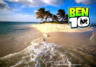 Ben 10 Ten desktop Wallpapers Ben Ten TV Show Logo in Beautiful Island desktop wallpaper