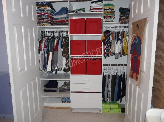 BIG BOYS CLOSET REDO | Confessions of a Semi-Domesticated Mama