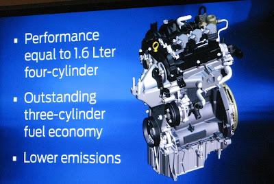 Photo: Ford's three cylinder one liter ecoboost engine