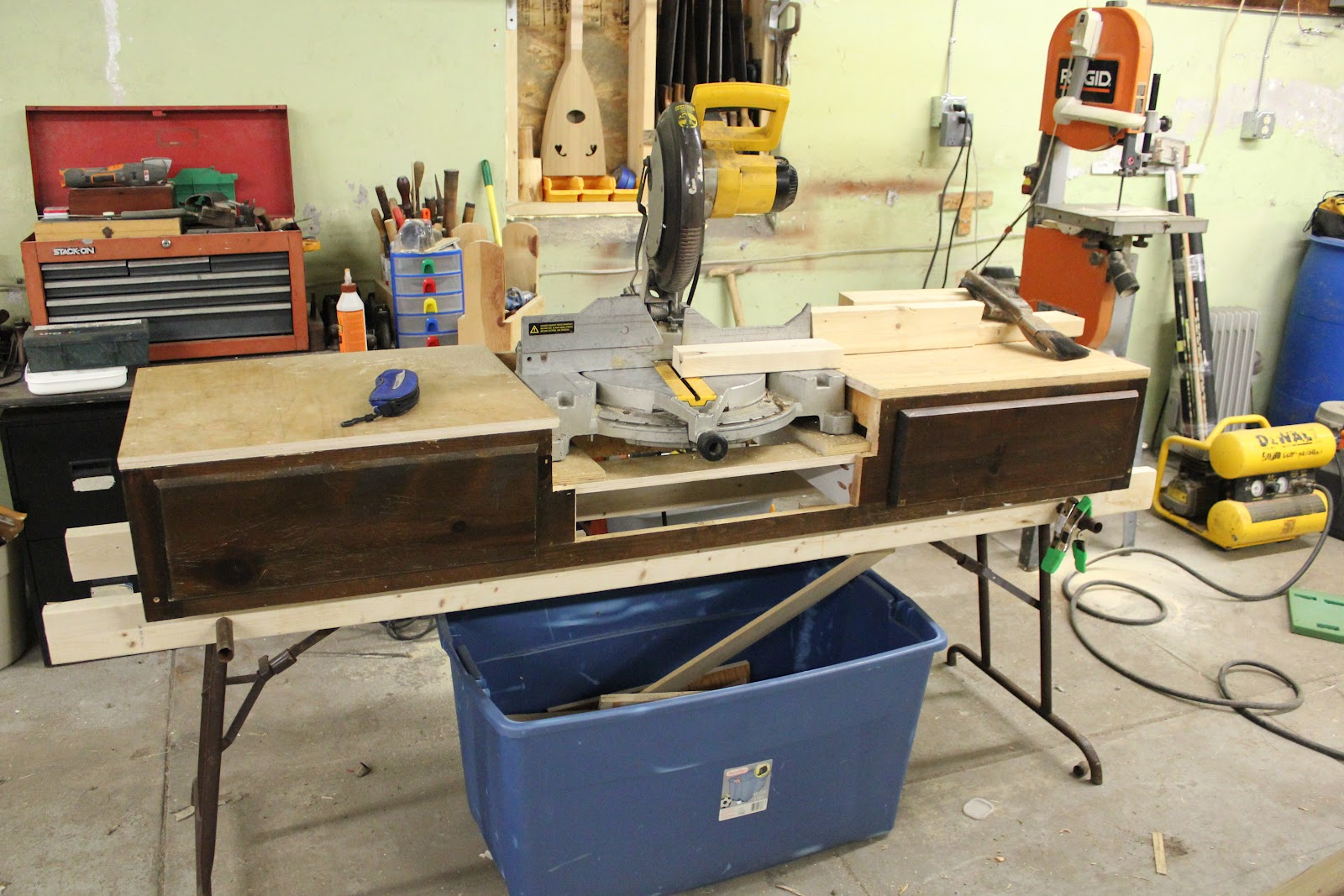 miter saw stand wood. miter saw stand, from a water bed? stand wood