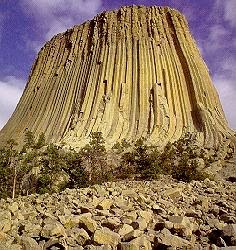 Devil's Tower, Wyoming - geologi struktur