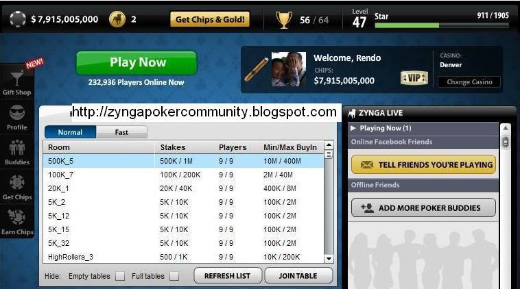 Cara hack chip zynga poker menggunakan cheat engine