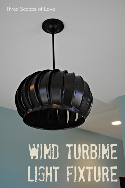 Wind Turbine Light Fixture pendant for unique lighting by Three Scoops of Love, featured on I Love That Junk